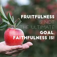 faithfulness vs fruitfulness